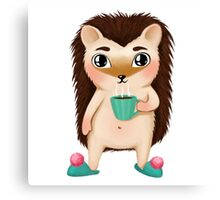 Hami the Hedgehog - Cup of Coffee Canvas Print