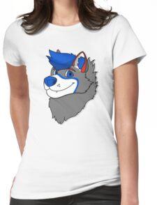 Vakeri Husky Headshot Womens Fitted T-Shirt
