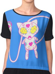 Mew Popmuerto | Pokemon & Day of The Dead Mashup Chiffon Top
