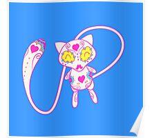 Mew Popmuerto | Pokemon & Day of The Dead Mashup Poster