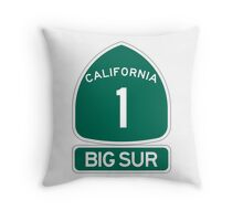 PCH - CA Highway 1 - Big Sur Throw Pillow