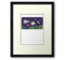 Ben and Holly - Flying through the night Framed Print