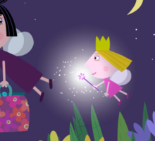 Ben and Holly - Flying through the night Sticker
