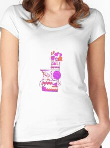 Missingno. Popmuerto | Pokemon & Day of The Dead Mashup Women's Fitted Scoop T-Shirt