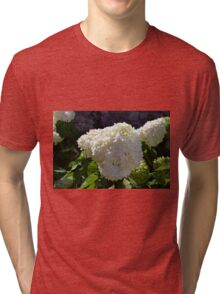 Beautiful white large round flower Tri-blend T-Shirt