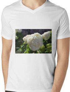 Beautiful white large round flower Mens V-Neck T-Shirt