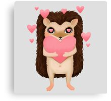 Hami the Hedgehog - In Love Canvas Print