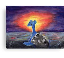 Lapras Pokemon Majestic Fan Art Canvas Print