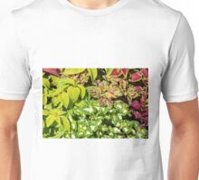 Colorful pattern of leaves Unisex T-Shirt