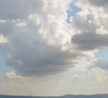 The cloudy sky over the hills of Assisi, Italy Sticker