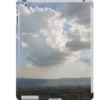 The cloudy sky over the hills of Assisi, Italy iPad Case/Skin