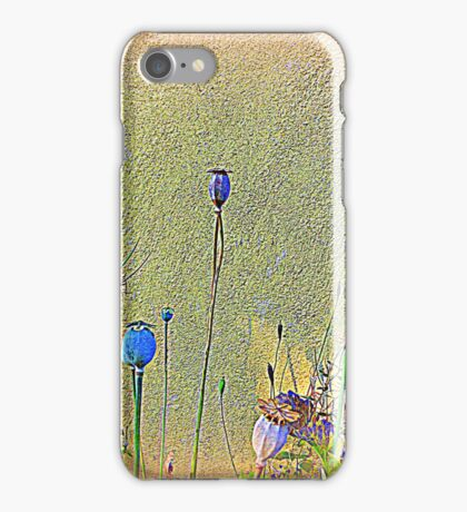Opium Seeds Against An Old Wall iPhone Case/Skin