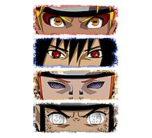 NINJA EYES - Naruto Sasuke Pain Neji Photographic Print