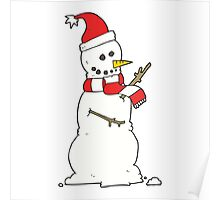 cartoon snowman Poster