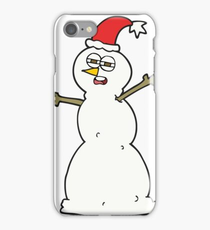 cartoon unhappy snowman iPhone Case/Skin