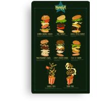 Burger menu Canvas Print