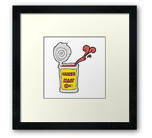 cartoon canned meat Framed Print