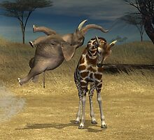 High Jumping Elephant by Mythos57