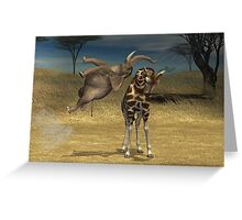 High Jumping Elephant Greeting Card