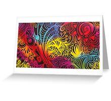 Rainbow Swirls Doodle #1 Greeting Card