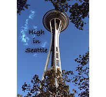 High in Seattle Photographic Print