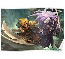Final Fantasy Cloud Versus Sephiroth Poster