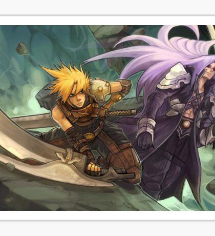 Final Fantasy Cloud Versus Sephiroth Sticker