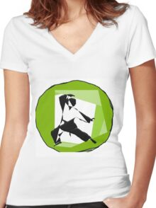 karate Women's Fitted V-Neck T-Shirt