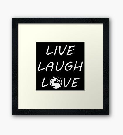 Live, Laugh, Love Framed Print