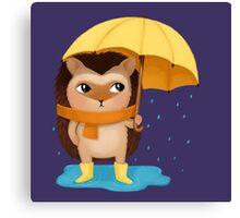 Hami the Hedgehog - the Rainy Day Canvas Print