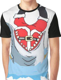 Funny Christmas Shark Swallows Santa-Ugly Sweater Gifts Tee Graphic T-Shirt