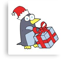 cartoon christmas penguin Canvas Print