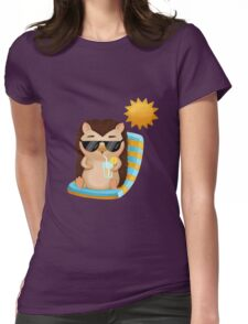 Hami the Hedgehog - Chilling in the Sun Womens Fitted T-Shirt
