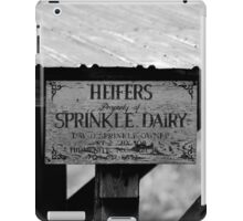 The Sign For The Heifer Pen iPad Case/Skin