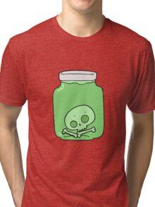 cartoon jar with skull Tri-blend T-Shirt