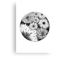 Flower circle #1 Canvas Print