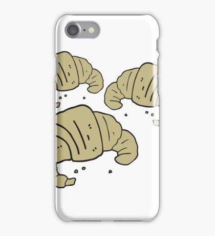 cartoon croissants iPhone Case/Skin