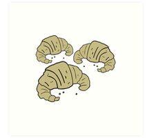 cartoon croissants Art Print