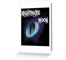 Nightmare Moon Eye Design Greeting Card