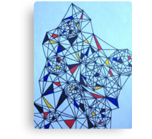 Geometric Drawing in Primary Colors; Mondrian-inspired Canvas Print