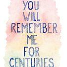 You Will Remember Me by Elliott Junkyard
