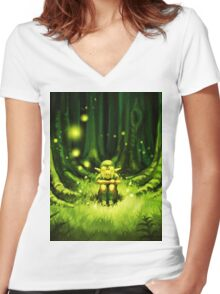 dreamy Women's Fitted V-Neck T-Shirt
