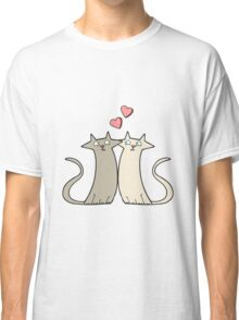 cartoon cats in love Classic T-Shirt