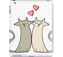 cartoon cats in love iPad Case/Skin