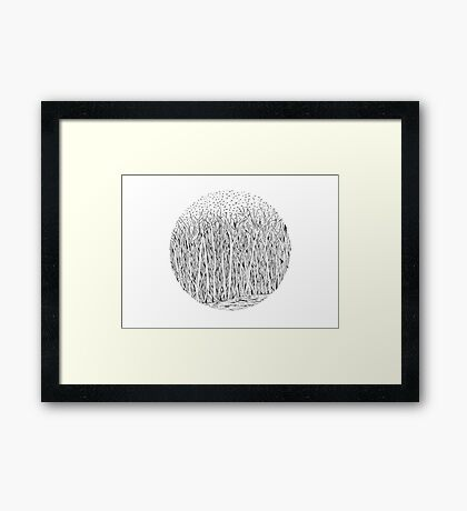 Grass circle #4 Framed Print