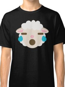 Sheep Emoji Teary Eyes and Sad Look Classic T-Shirt