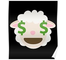 Sheep Emoji Money Face Poster