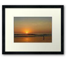 Sunset over La Jolla Shores Framed Print