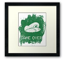 Game Over Luigi Framed Print