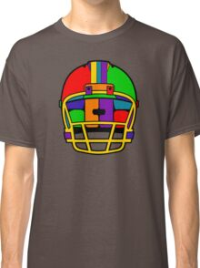 Football Helmet (Rainbow) Classic T-Shirt